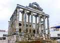 Roman Ruins of the Temple of Diana in Merida, Spain