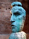 Roman sculpture ancient bronze in the diocletian archaeological site in rome italy Stock Image