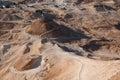 Roman siege ramp at Masada Royalty Free Stock Image