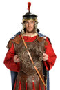 Roman Soldier Holding Crown of Thorns Royalty Free Stock Photo