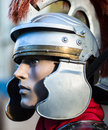 Roman soldier a profile of a Stock Photography