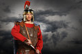Roman Soldier with Sword Royalty Free Stock Photo