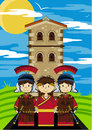 Roman Soldiers and Emperor