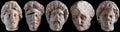 Roman Statue Heads Royalty Free Stock Photo