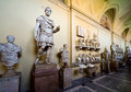 Roman statues in the Vatican Museum in Rome Stock Photography