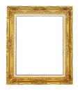 Roman style antique gold frame on white background Royalty Free Stock Photo