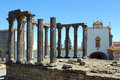 Roman temple evora portugal the Stock Photo