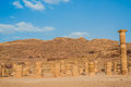 Roman temple in nabatean city of petra jordan middle east Royalty Free Stock Photos