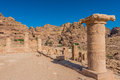 Roman temple in nabatean city of petra jordan middle east Stock Images
