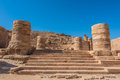 Roman temple in nabatean city of petra jordan middle east Stock Photo