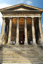 Roman temple in Nimes France Stock Image