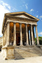 Roman temple in Nimes France Stock Photo