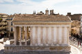 Roman temple of nimes provence france Stock Photo