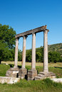 Roman temple in Riez Stock Images