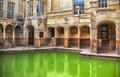 Roman terms in bath historical complex Stock Photo