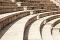 Roman Theater At Caesaria Stock Photo