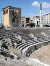 Roman theater in Lecce, Italy Stock Images