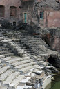 Roman theater ruins in Catania, Royalty Free Stock Photos