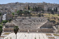 Roman theatre amman jordan in built by antonius pius in Royalty Free Stock Images