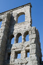 Roman theatre of aosta ruins the a d bc Royalty Free Stock Photo