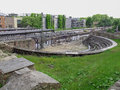 Roman theatre in mainz ruins of the roemisches theater germany Royalty Free Stock Photography