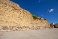 Roman walls of tarragona ruins the spain Stock Photo
