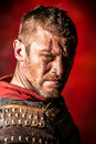 Roman warrior portrait of a courageous ancient in armor Stock Images