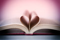 Romance novel heart shaped