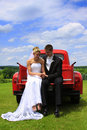 Romance: Two Lovers with Classic Truck Royalty Free Stock Images