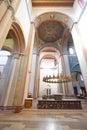 Romanesque basilica st godehard church a very old church in hildesheim germany Stock Photo