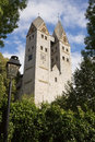 The romanesque church in dietkirchen an der lahn germany is a borough of limburg city bears name of st lubentius Stock Photo