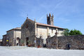 Romanesque church in monteriggioni tuscany italy Royalty Free Stock Image