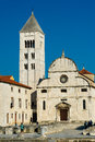 The romanesque church in old town of Zadar. Royalty Free Stock Photo