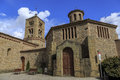 Romanesque church of santa eugenia de berga catalonia spain built in the eleventh century Stock Image