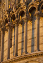 Romanesque columns and arches Stock Photos