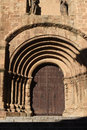 Romanesque door of the Old Cathedral aka St Mary`s church, Pla Royalty Free Stock Photo