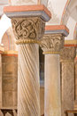 Romanesque pillars, 12th century Stock Photo