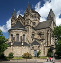 Romanesque revival the catholic sacred heart church of koblenz germany is a good example for the style it was built between and Royalty Free Stock Photography