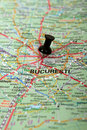 Romania : Bucharest map Royalty Free Stock Images