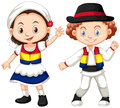 Romania children in traditional outfit