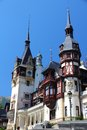 Romania landmark peles castle in muntenia region old building in sinaia prahova county Royalty Free Stock Image