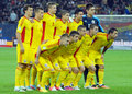 Romania lineup in romania hungary s pictured before the fifa world cup qualifier game between and won Royalty Free Stock Photos