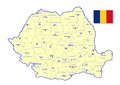 Romania map Royalty Free Stock Photo
