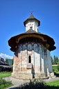 Romania moldovita orthodox monastery ancient christian made by stone the name of the is and is situated in the bucovina region Stock Photography