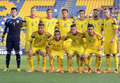 Romania u football team s line up pictured before an international footbal friendly between and italy won Stock Photo