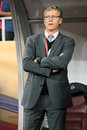 Romania vs finland s head coach markku kanerva pictured before the uefa euro qualifying soccer match between and played at Stock Photography