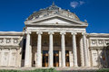 Romanian athenaeum is a concert hall in bucharest located on calea victoriei george enescu square palace square Stock Photo