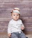 Romanian baby boy Royalty Free Stock Photo
