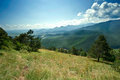 Romanian carpathians the scenery of the carpathian mountains Royalty Free Stock Image