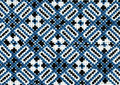 Romanian folk seamless pattern ornaments. Romanian traditional embroidery. Ethnic texture design. Traditional carpet design. Carpe